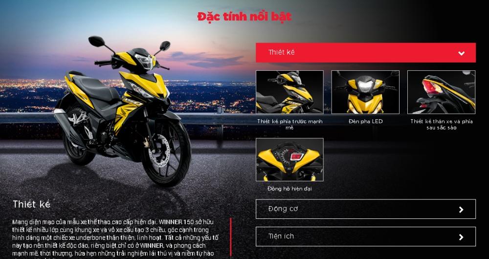 Xe Honda Winner 150 phiên bản thể thao - Trắng Đen (Tặng Nón bảo hiểm, Bảo hiểm xe máy)