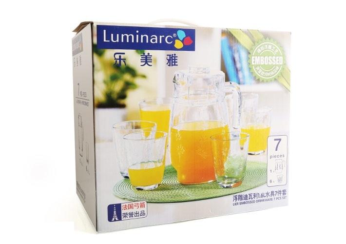 Bộ bình ly thuỷ tinh Luminarc Tivoli Lier Embossme G2732