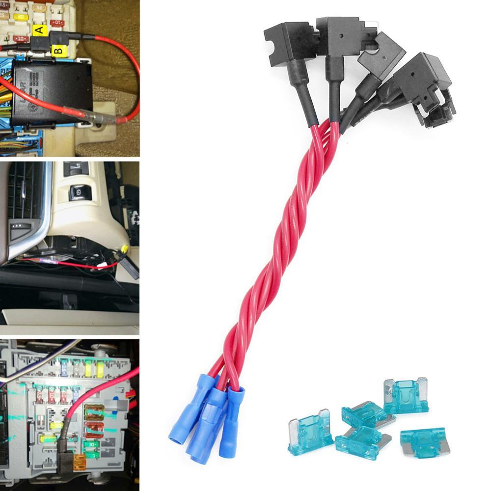 5 Piece 15a Add Circuit Standard Blade Fuse Boxe Holder Acs Piggy A Tap Piggyback Buy Mini Gii Thiu Back Intl