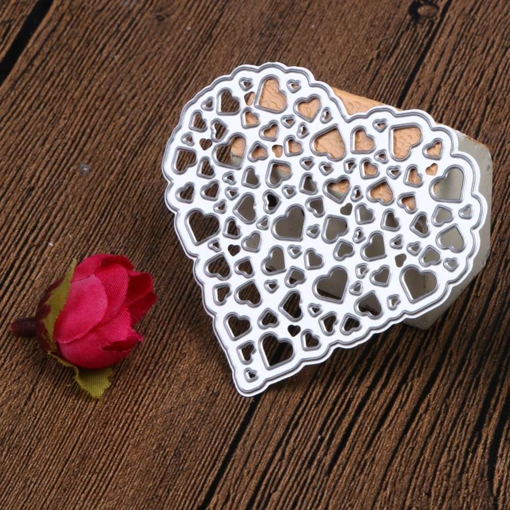 1Pcs Metal Cutting Dies Hollow Out Heart Stencil Embossing - intl - 2