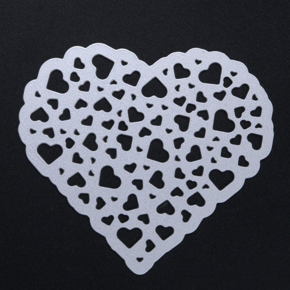 1Pcs Metal Cutting Dies Hollow Out Heart Stencil Embossing - intl - 5