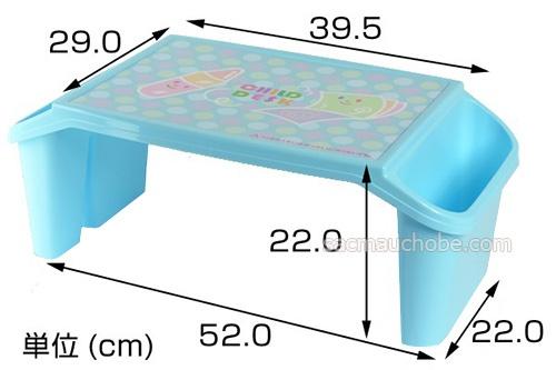 Bàn nhựa cho bé màu xanh Iseto chính hãng nhập Nhật Bản
