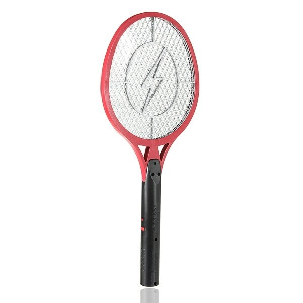 Electric Insect Pest Bug Fly Mosquito Zapper Swatter Killer Racket Rechargeable Red - intl
