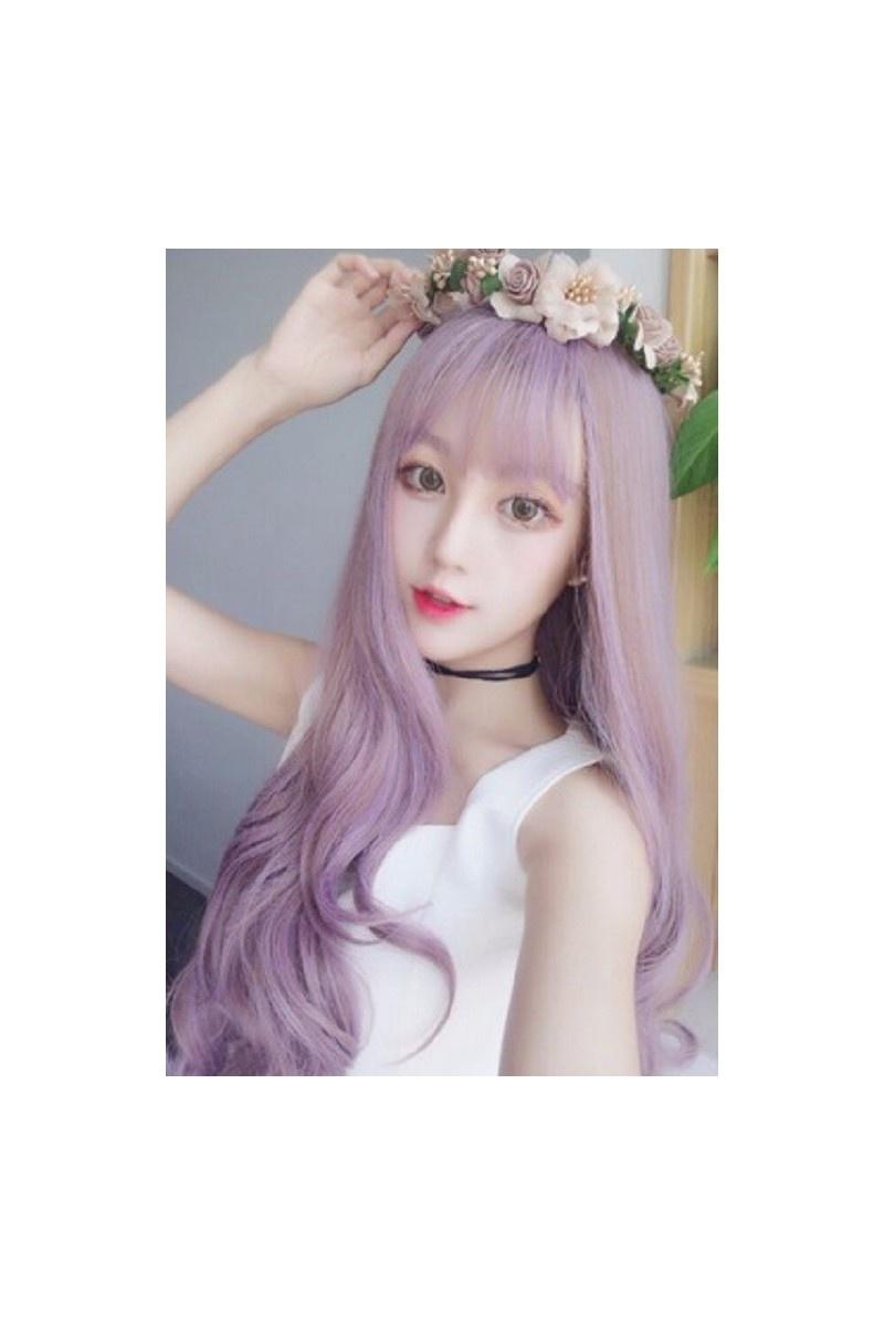 Tóc giả Hàn Quốc màu tím HOT 2016 -- TG74 5