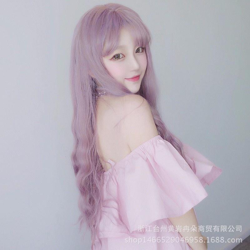 Tóc giả Hàn Quốc màu tím HOT 2016 -- TG74 3