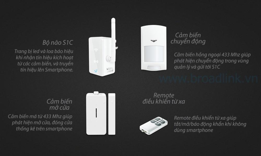 Bộ trung tâm kiểm soát an ninh S1C kit gồm 4 thành phần