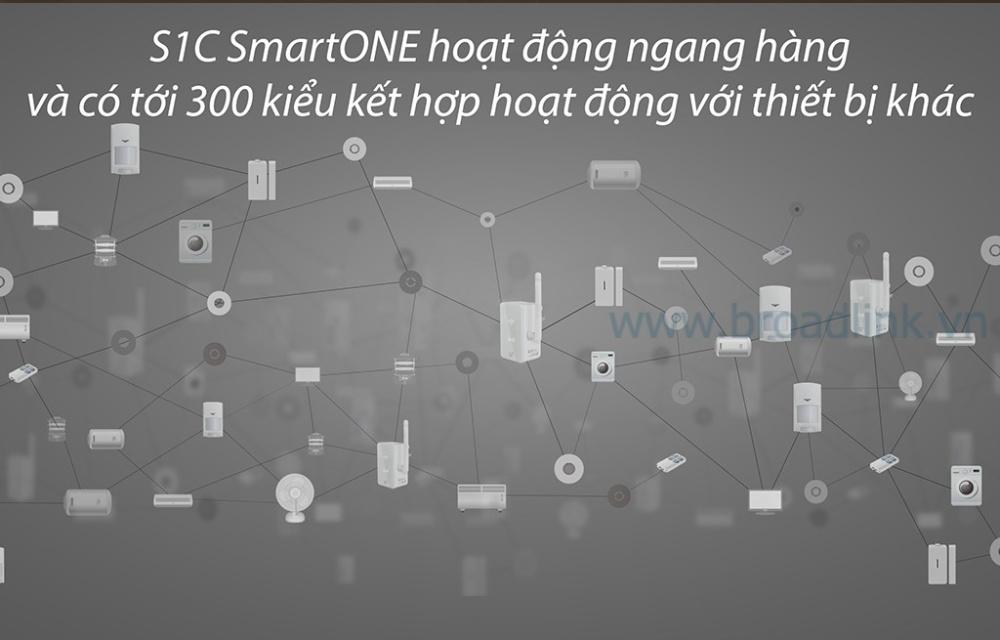 Trung tâm kiểm soát an ninh Broadlink Smartone S1C có thể phối kết hợp với nhiều thiết bị nhà thông minh khác của Broadlink