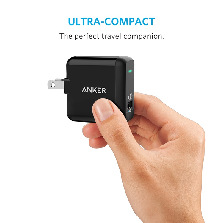 Adapter Sạc Anker PowerPort+ 1 cổng USB QC 3.0 Với PowerIQ - A2013