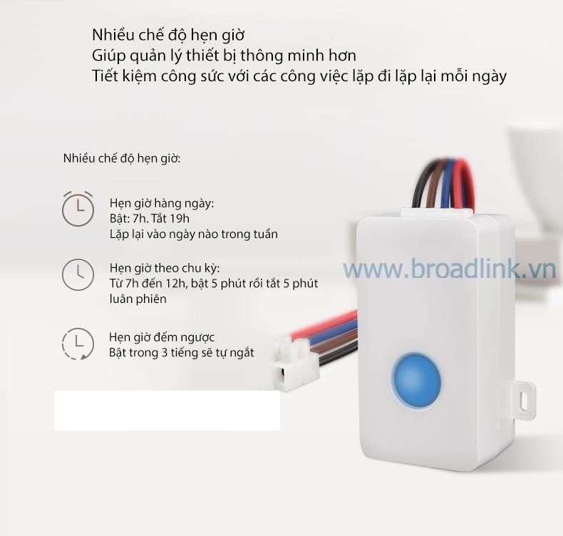 Hộp công tắc thông minh Wifi Broadlink SC1PRO có thể hẹn giờ
