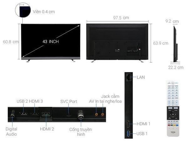 TIVI TOSHIBA 43U6750 Toshiba – Review sản phẩm