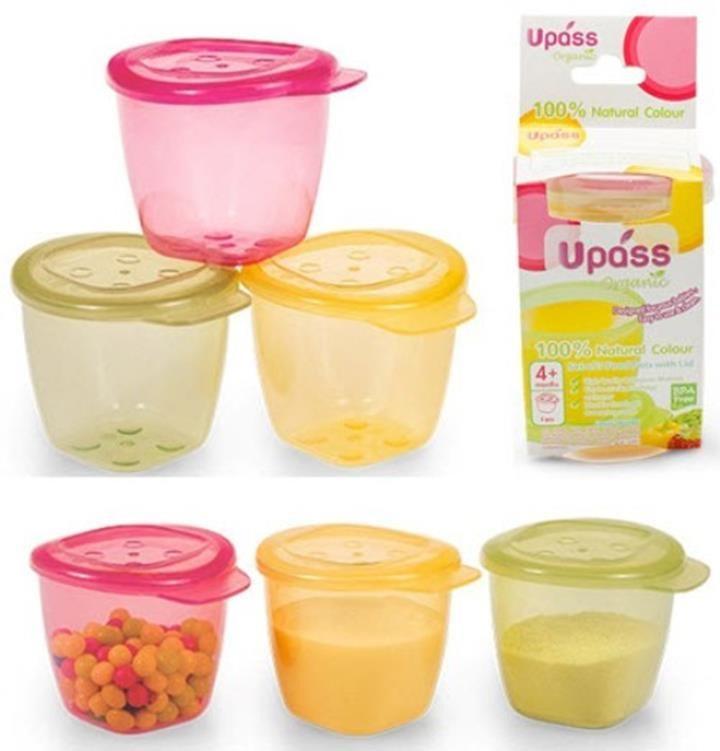 Bộ 3 hộp đựng thức ăn hữu cơ UPASS - UP4187O 4