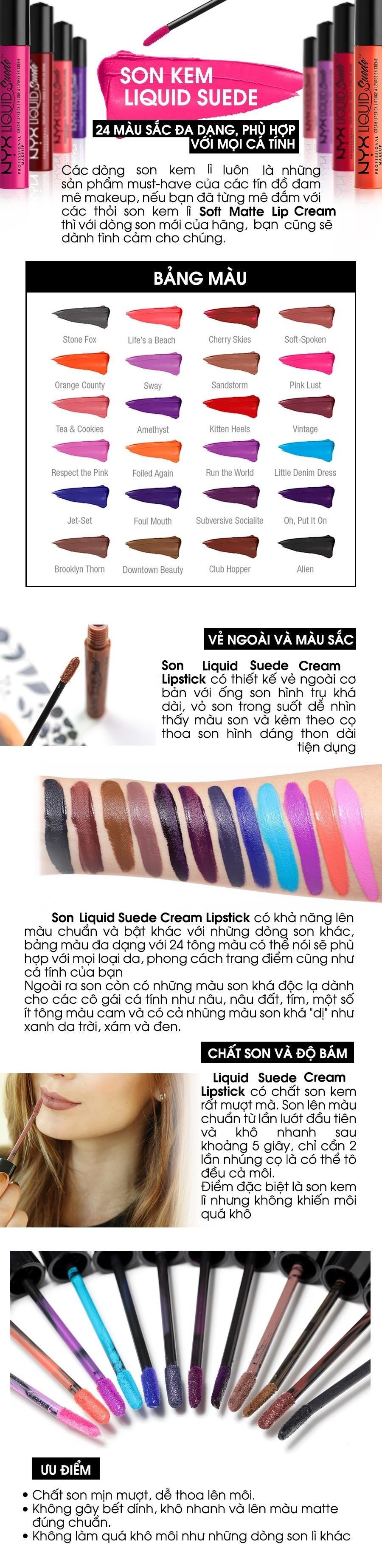 Son môi NYX Professional Makeup Liquid Suede Cream Lipstick LSCL13 Respect The Pink
