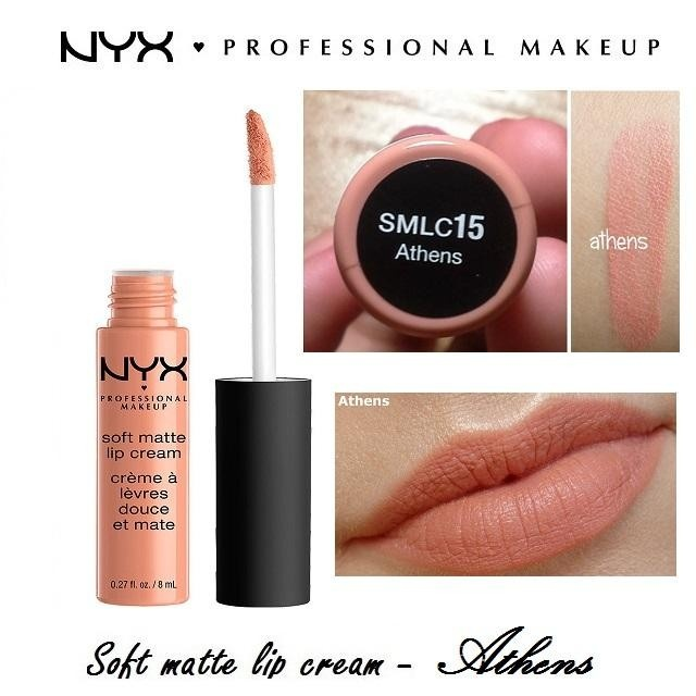 Son kem lì NYX Professional Makeup Soft Matte Lip Cream SMLC15 Athens