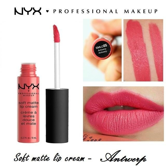 Son kem lì NYX Professional Makeup Soft Matte Lip Cream SMLC05 Antwerp