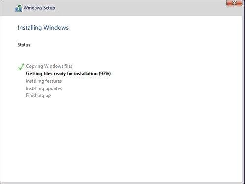 Quá trình cài đặt Windows 10