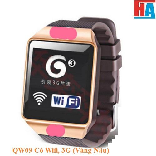 Đồng hồ Thông minh QW09  Có Wifi, 3G Vàng Nâu 1