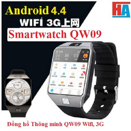 Đồng hồ Thông minh QW09  Có Wifi, 3G Vàng Nâu 2