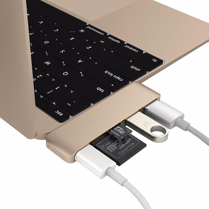 Cổng chuyển HyperDrive  5-in-1 USB-C Hub gồm 5 cổng  USB Type-C, SDXC, micro SDXC, 2 x USB 3.0 HyperDrive – Review sản phẩm