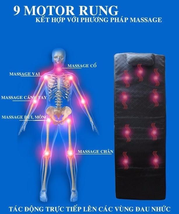 Nệm massage toàn thân Goodfor 7