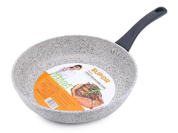 Chảo vân đá chống dính dùng trên bếp từ Supor Rock F23A28IH