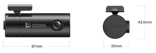 DDPai MINI Camera hành trình độ nét cao, tích hợp kết nối Wifi không dây Full HD