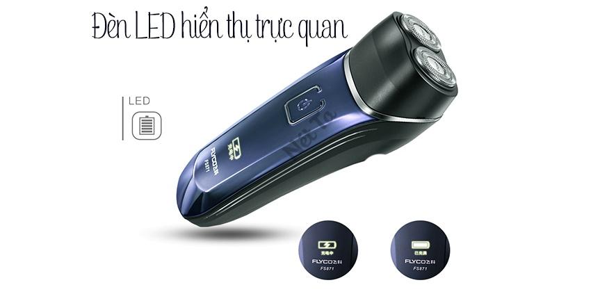máy cạo râu chống nước flyco fs872
