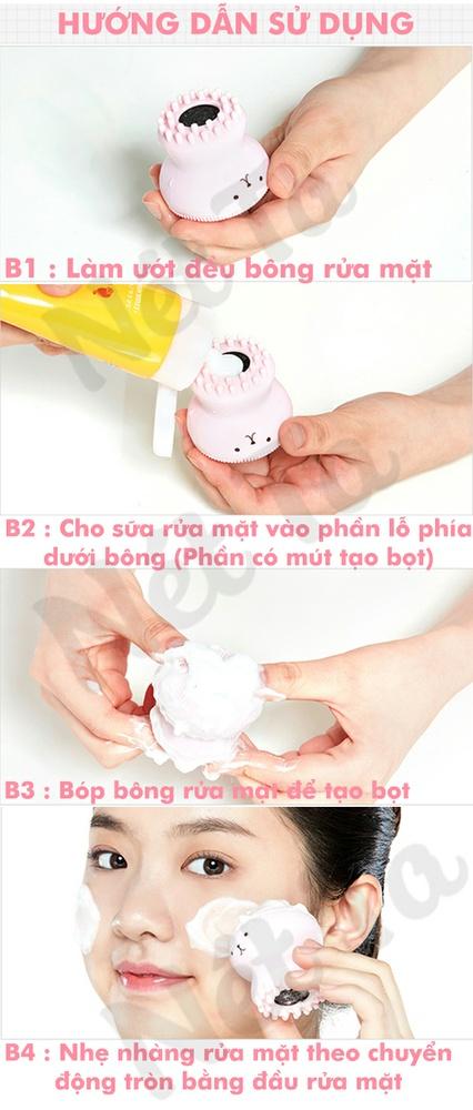 Bông rửa mặt silicone Etude House đa năng từ Hàn Quốc