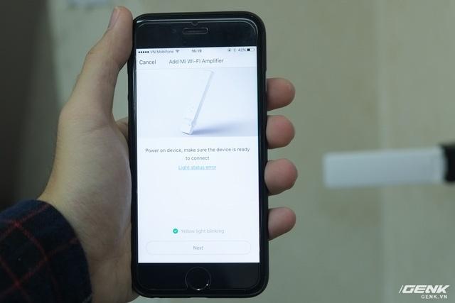 Người dùng sẽ sử dụng ứng dụng Mi Home để thiết lập. Quá trình này diễn ra rất nhanh chóng, chỉ trong chưa đầy 5 phút.