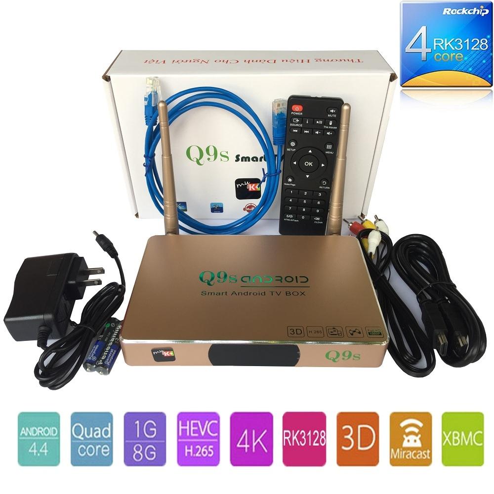 Tivi Box Q9S 4K Ultra HD 2017 kèm chuột không dây - Đầu phát Media [Hà Nội]