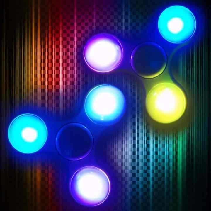 Con quay spinner có đèn sáng giảm stress