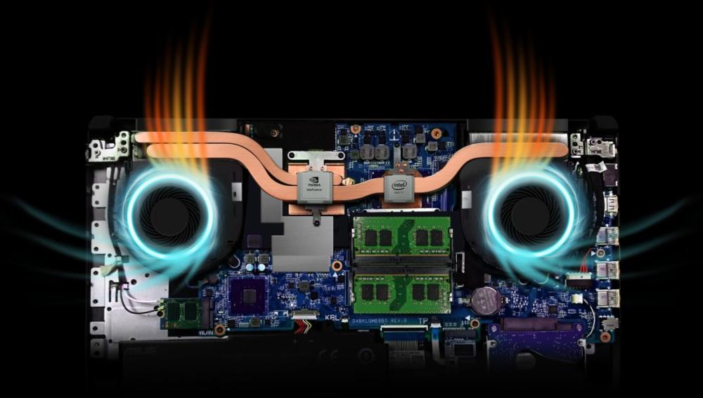 Asus TUF Gaming FX504GE-E4059T tản nhiệt