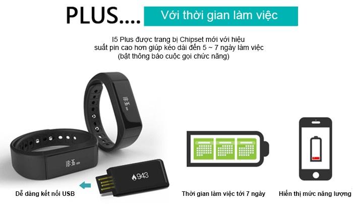 Đồng hồ thông minh chống thấm I5 Plus - đen 9