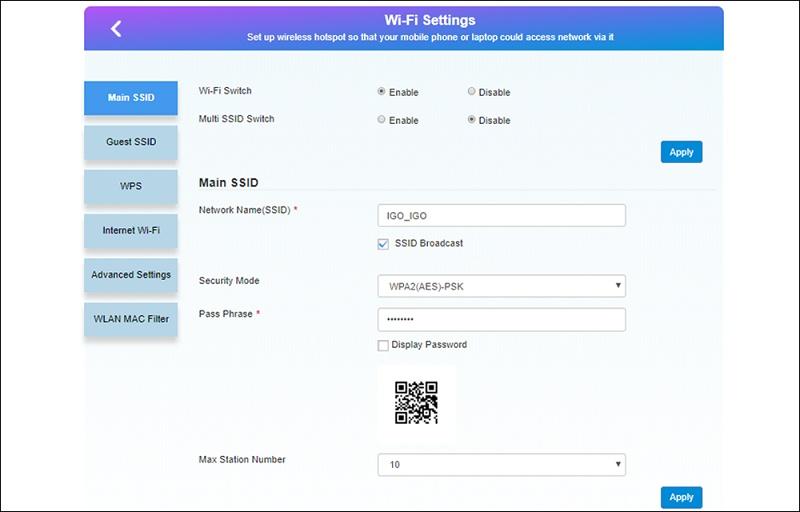 Bộ phát Wifi từ sim 4G IGO A368 - sử dụng được trên 10 quốc gia - 13