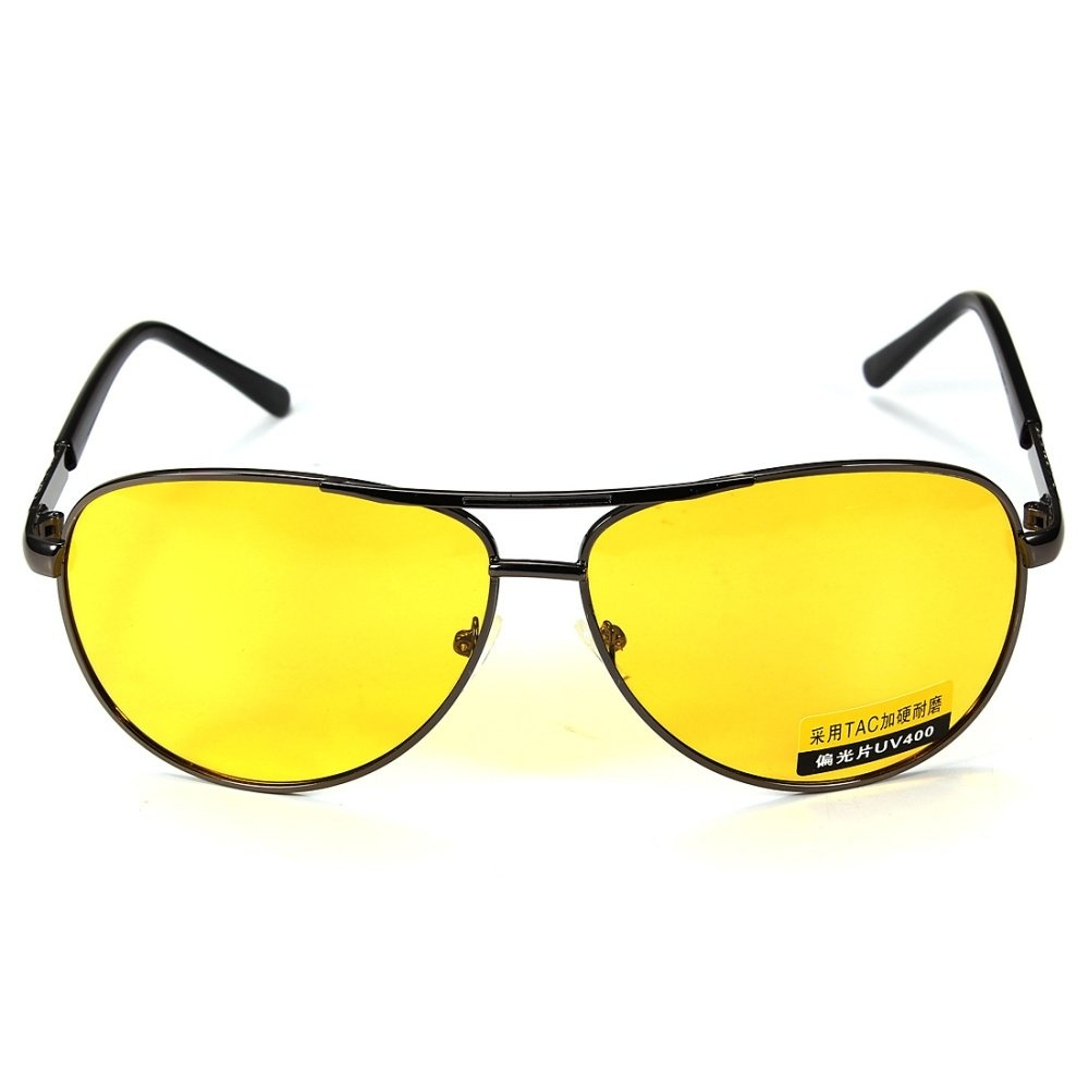 2Pcs Fashion UV400 Polarized Anti-Glare Night Car Driving Men Eyeglasses Sunglasses - intl