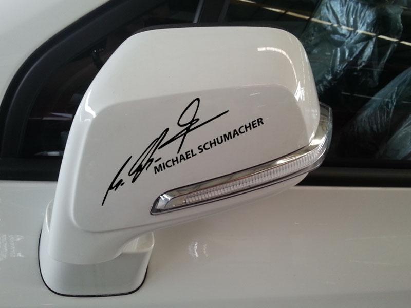 Tem dán thể thao chữ ký MICHAEL SHUMACHER