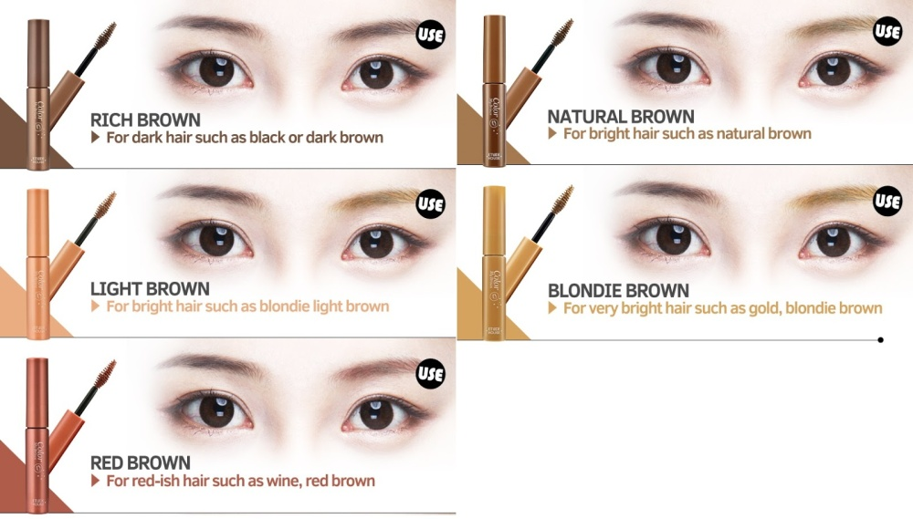 Image result for Etude House Color My Brows ##01 Rich Brown