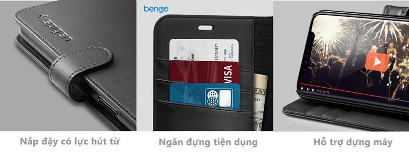 Bao da iPhone X SPIGEN Wallet S