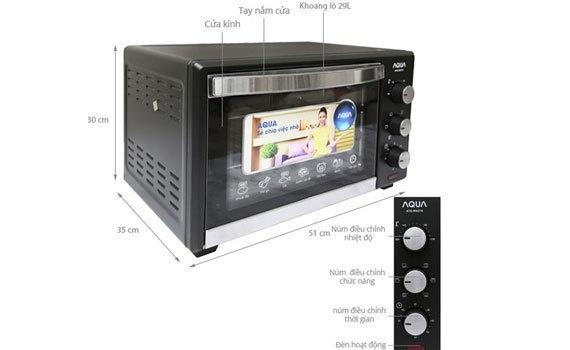 Lò nướng Aqua Ato- R5074 có chức năng hẹn giờ hiện đại
