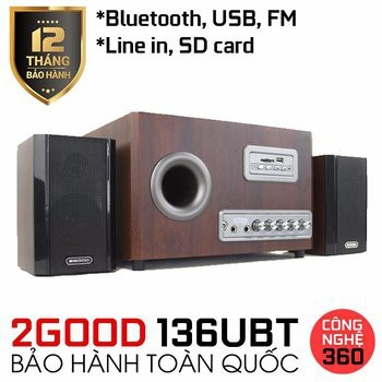 Loa 2GOOD 136UBT  Bluetooth (2.1)