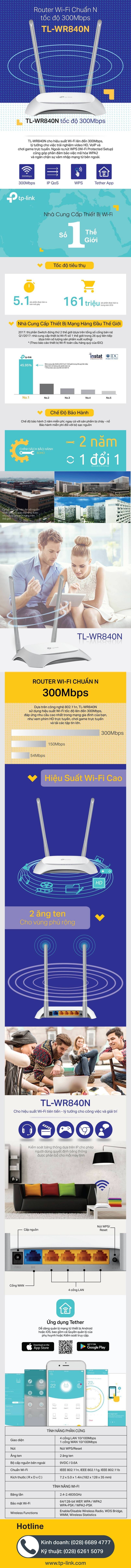 Tp Link Tl Wr840n Router Wi Fi Chun N 300mbps Hng Phn Phi Wr 840n Wireless Tplink Specifications Of Chnh Thc