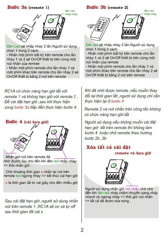 hướng dẩn sử dụng RC1A