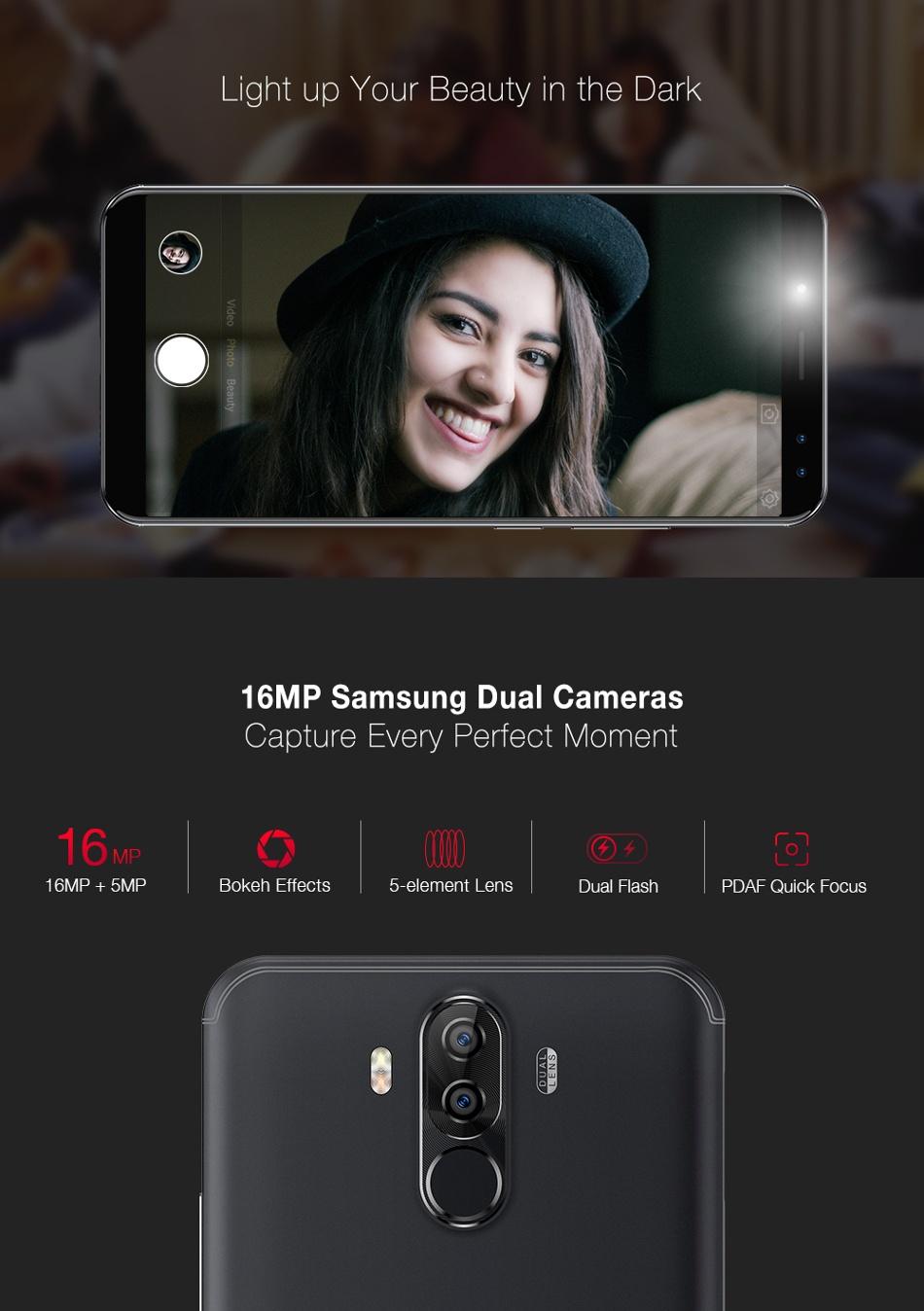 Ulefone Power 3S 6.0 Inch 6350mAh Face ID 4GB RAM 64 GB ROM MT6763 Octa lõi 4G điện thoại thông minh