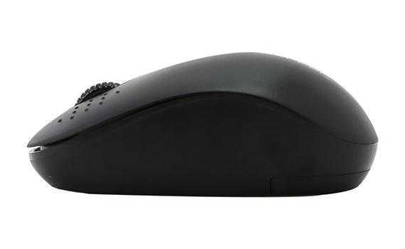 Chuột không dây Forter V181 màu đen thiết kế mẫu mã hiện đại, thon gọn vừa tay