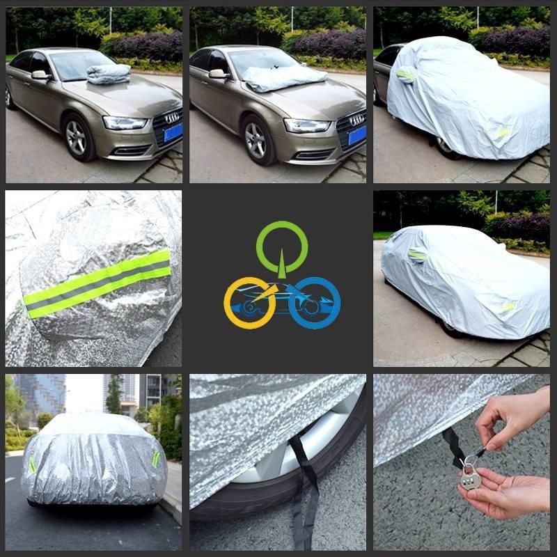 Bạt phủ ô tô tráng nhôm chống mưa nắng 7