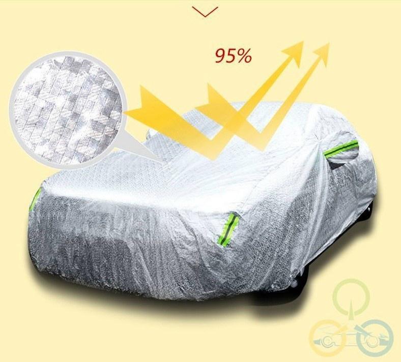 Bạt phủ ô tô tráng nhôm chống mưa nắng 4
