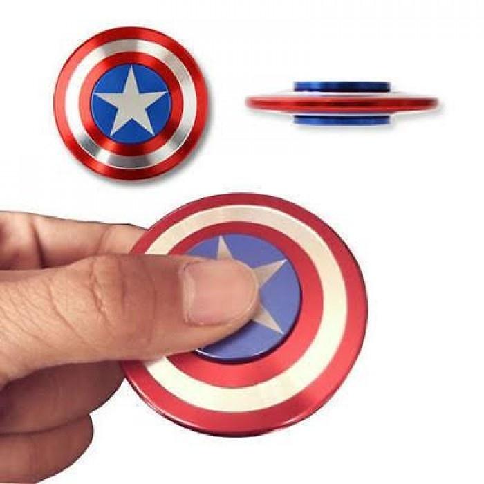 ĐỒ CHƠI CON QUAY Spinner Captain America Có Hộp
