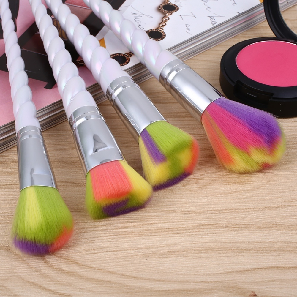 10pcs Makeup Rainbow Powder Eyeshadow Cosmetic Brush Set Portable Brushes - intl
