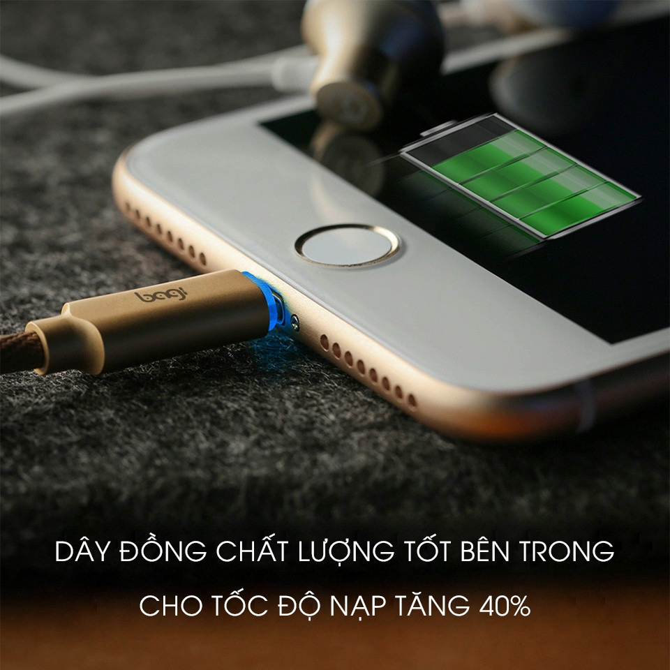 cáp sạc tự ngắt lightning iphone cb-il10 bagi