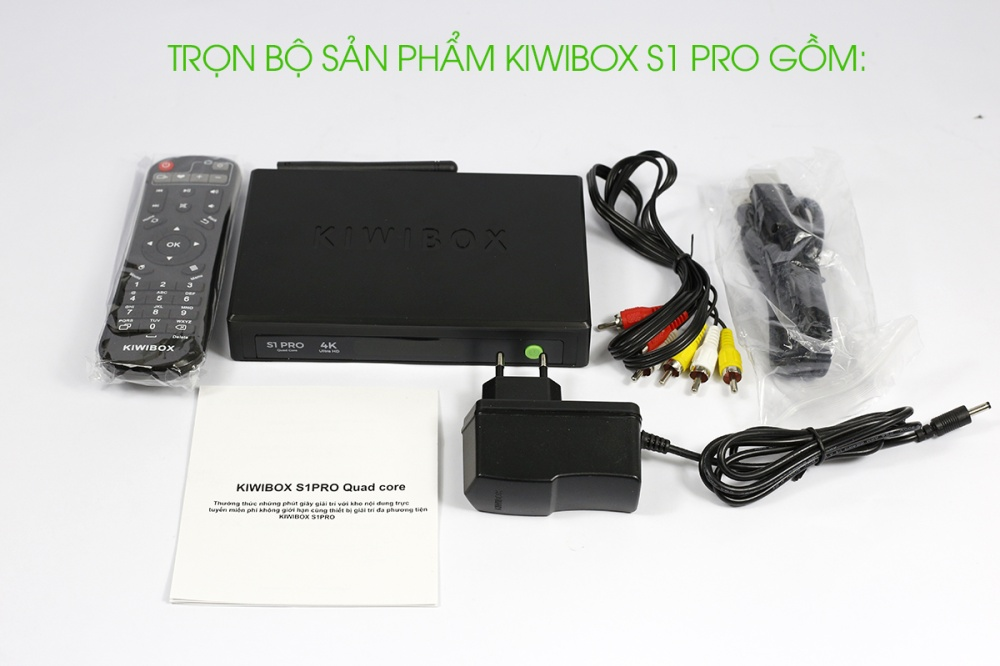 Bộ sản phẩm Kiwibox S1 Pro