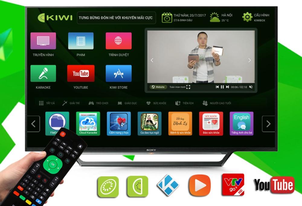 Launcher mới của Kiwibox S1 New